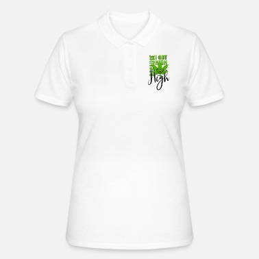 Cannabis Cannabisblatt Haschkottchen Fly Because I Got High - Frauen Polo Shirt