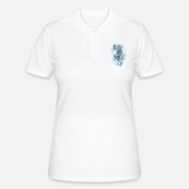 Blue Tiger - Frauen Poloshirt