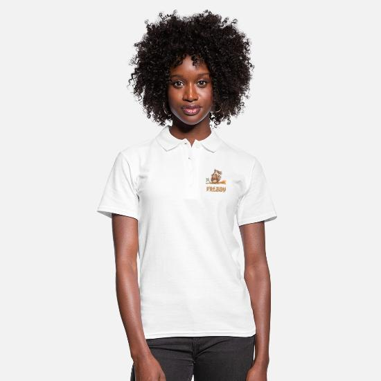 Freddy Polo Shirts - Owl Freddy - Women's Polo Shirt white