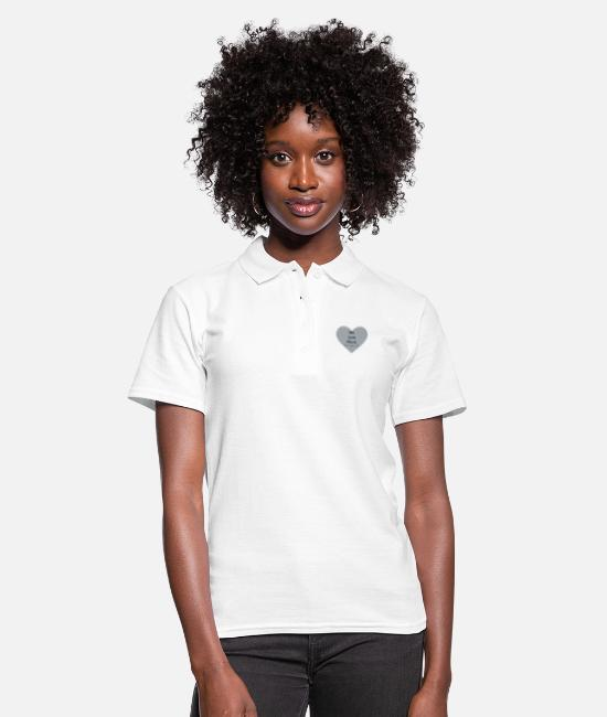Heart Polo Shirts - We Love Music - Women's Polo Shirt white