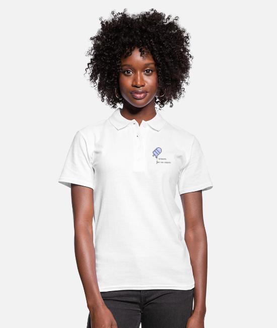 Heart Polo Shirts - I scream for ice cream! - Women's Polo Shirt white