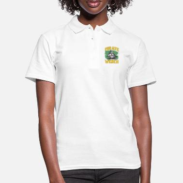 Pirate Flag Pirate ship pirate flag - Women's Polo Shirt