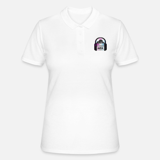 House Music Poloshirts - House Music - Frauen Poloshirt Weiß