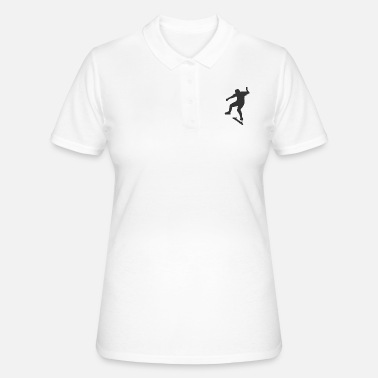 Skater on a skateboard - Women's Polo Shirt