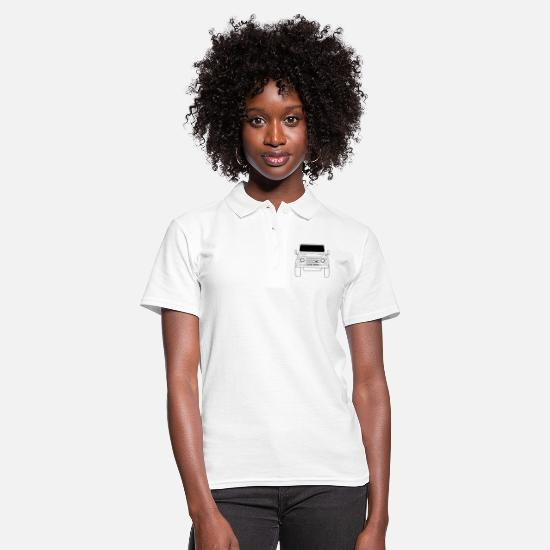 Land Polo Shirts - Land Rover Defender Front - Women's Polo Shirt white