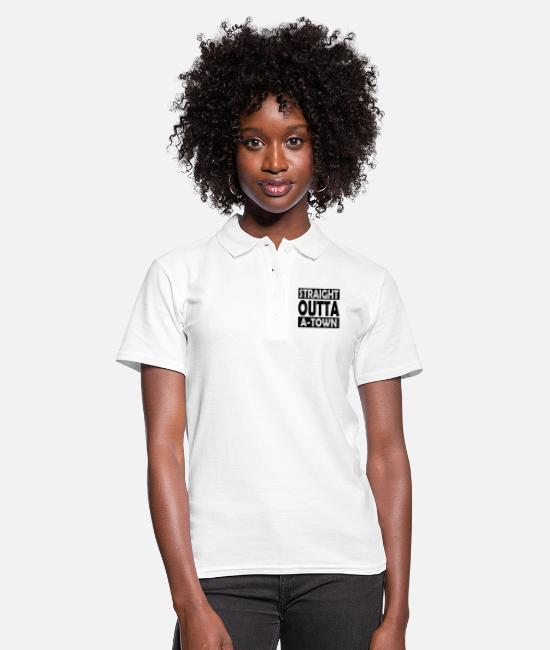 Right Polo Shirts - Straight Outta A-Town - Women's Polo Shirt white