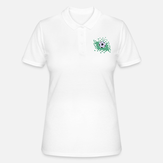 Football Polo Shirts - Football on football field - Women's Polo Shirt white