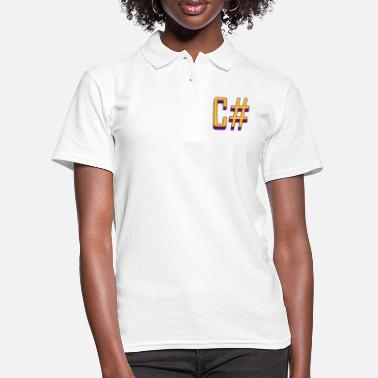 C Sharp Programming Languages: C# / C sharp (Classic) - Women's Polo Shirt
