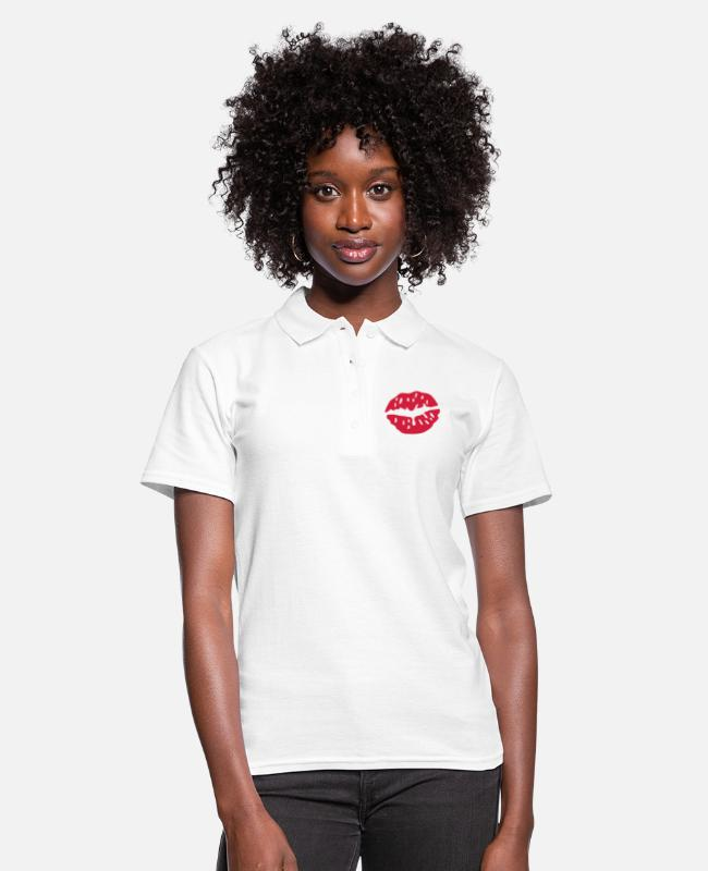Beso Camisetas polo - Kiss Love - Camiseta polo mujer blanco