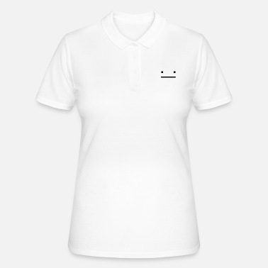 Símbolo Blocky Straight Face - Camiseta polo mujer