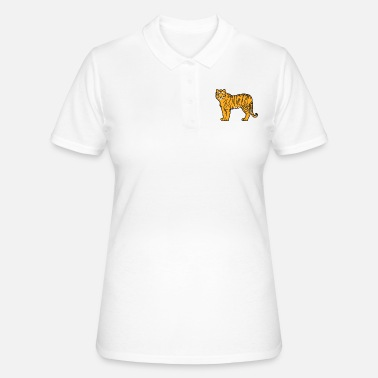 Mature Mature handsome and magnificent tiger - Women's Polo Shirt