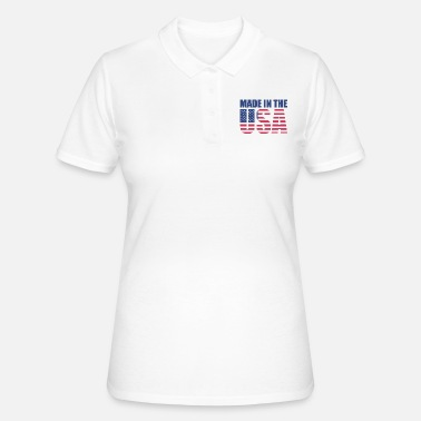 Stars USA America Flag Stars and Stripes Made in USA - Women's Polo Shirt
