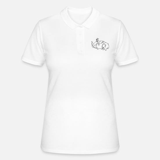 Life Force Polo Shirts - Hunter piglet bear gamer motif - Women's Polo Shirt white