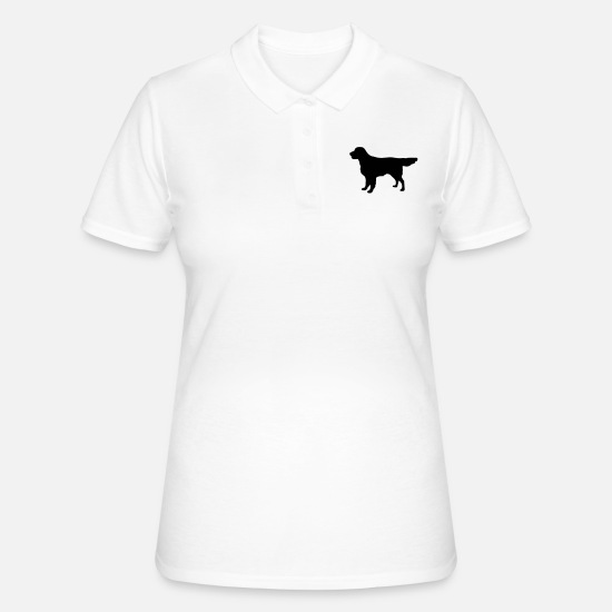 Retriever Poloshirts - Flatcoat Retriever Dog - Vrouwen poloshirt wit