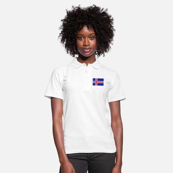 Flag Polo Shirts - drapeau_islande - Women's Polo Shirt white
