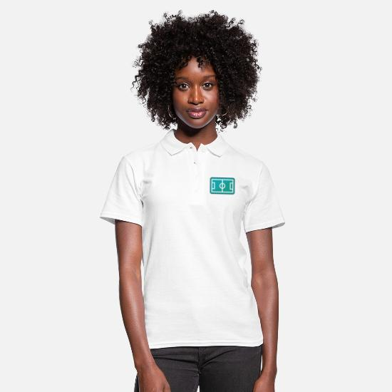 Gift Idea Polo Shirts - Football field from above - Women's Polo Shirt white