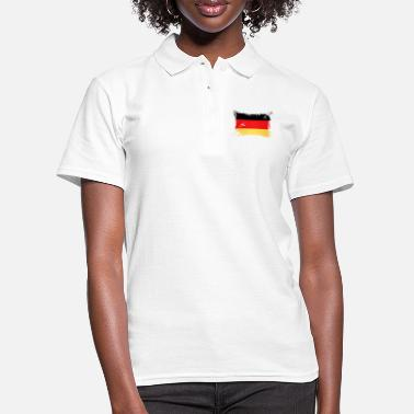 German Flag Flagge Deutschland / German Flag - Frauen Poloshirt