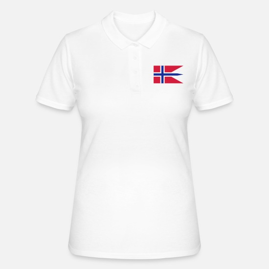 Norway Poloshirts - norway flag - Vrouwen poloshirt wit