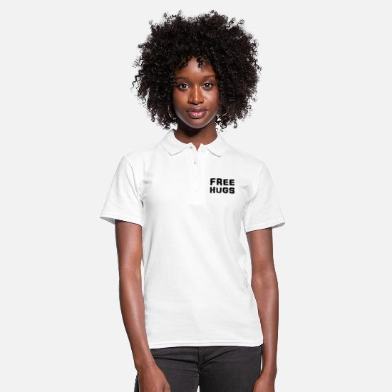 Cute Polo Shirts - Free Hugs - Women's Polo Shirt white
