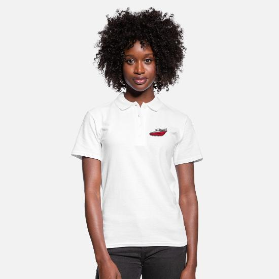 Fisherman Polo Shirts - boat motor boat - Women's Polo Shirt white