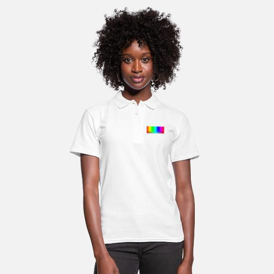 Test Polo Shirts - PHOTOGRAPHY COLOR SPECTRUM - TEST IMAGE / RAINBOW - Women's Polo Shirt white