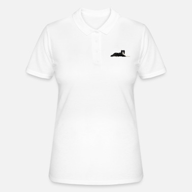 Border Collie liegend - Frauen Poloshirt