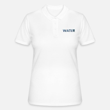 Word WATER with photo - Women's Polo Shirt