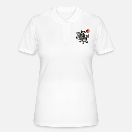 Zalgiris Polo Shirts - Lithuania basketball - Women's Polo Shirt white