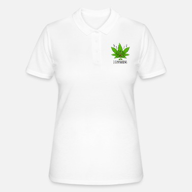 Cannabis Cannabis Cannabisblatt Fly Spruch Halo I Cannabims - Frauen Polo Shirt