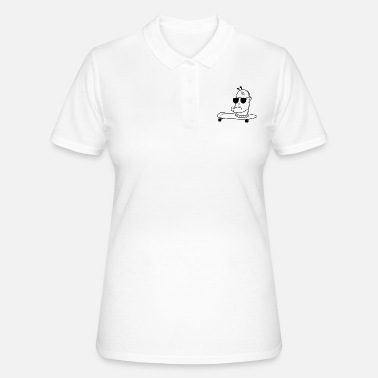 Wretch Skater Ork - Racing Head aufm board (black) - Women's Polo Shirt