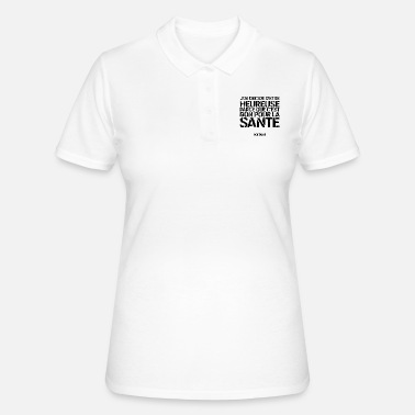 Portebonheur Citation (féminin) - Voltaire - Women's Polo Shirt