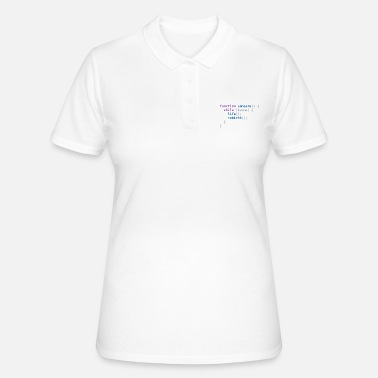 Funny T-Shirt: Samsara in JavaScript Programmer - Women's Polo Shirt