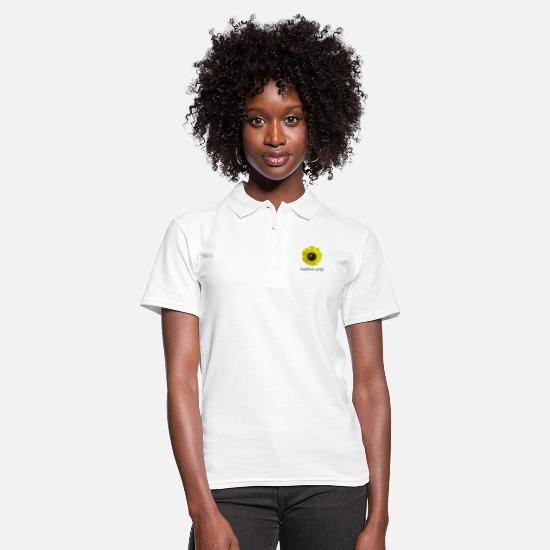 "Honey Bee Polo Shirts - Sunflower of life ""Sunflower of life"" - Women's Polo Shirt white"