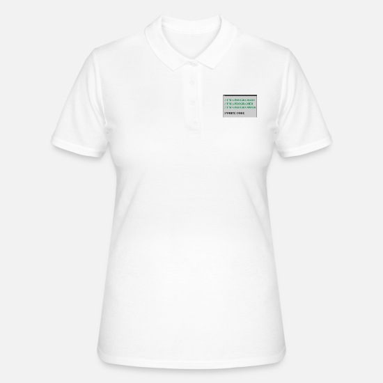 Program Polo Shirts - computer - Women's Polo Shirt white
