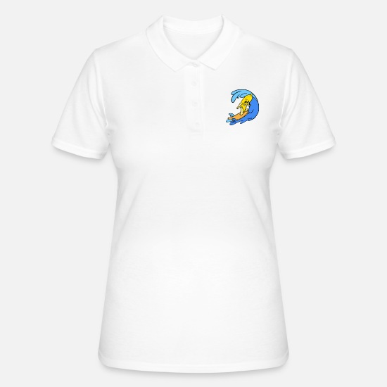 Silly Polo Shirts - Sporty Banana - Women's Polo Shirt white