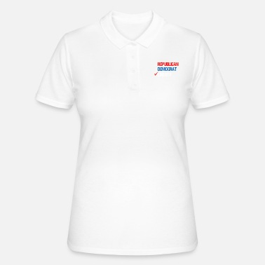 Democrat Republican Democrat Liberty Libertarian - Women's Polo Shirt