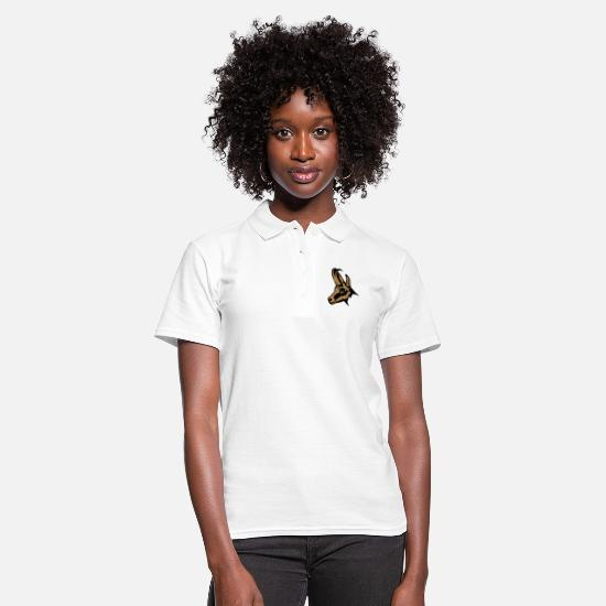 Forest Animal Polo Shirts - chamois wild animal 110 - Women's Polo Shirt white
