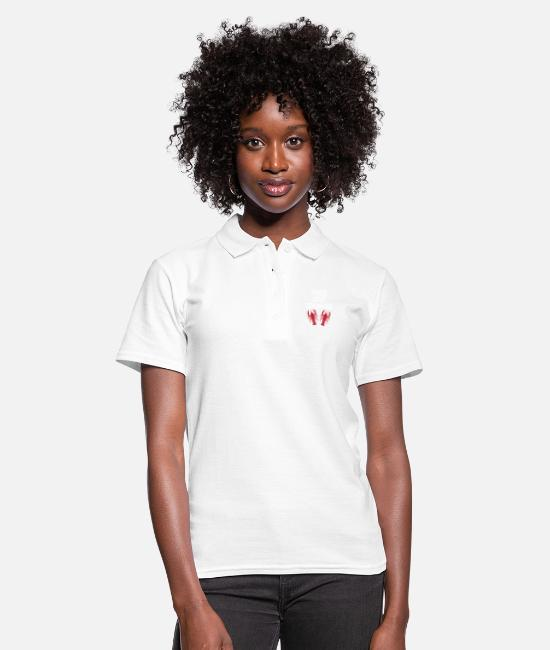 Aragosta Polo - Regalo di Peace Love Crawfish - Polo donna bianco