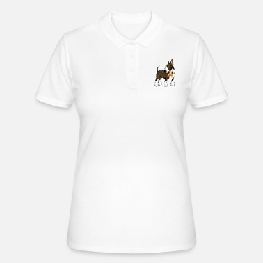 English Bullterrier with Teddy - Women's Polo Shirt