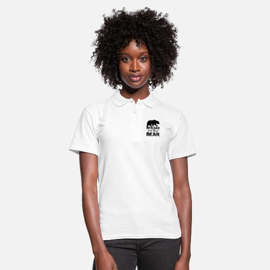 Beware Polo Shirts - Beware Of The Bear - Women's Polo Shirt white