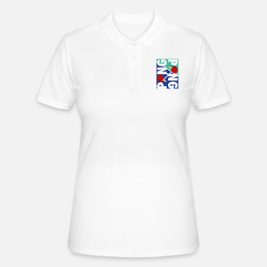 Sports Ping Pong Racket Sports Ontwerp - Vrouwen poloshirt