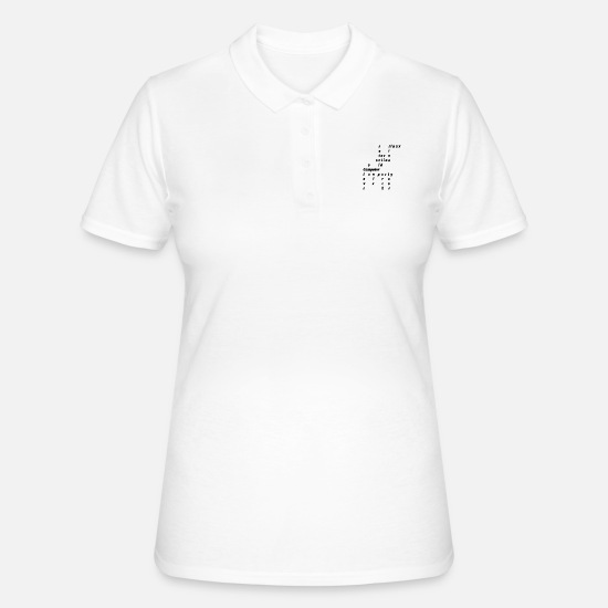 Computer Art Polo Shirts - computer - Women's Polo Shirt white