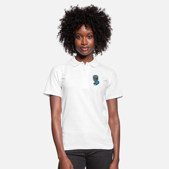 Teddy Polo Shirts - Monster Teddy - Women's Polo Shirt white