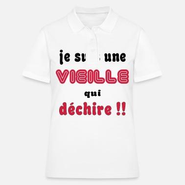T Qui Dechire Une Shirt Je Suis Premium Vieille FemmeSpreadshirt qpUzMSVG