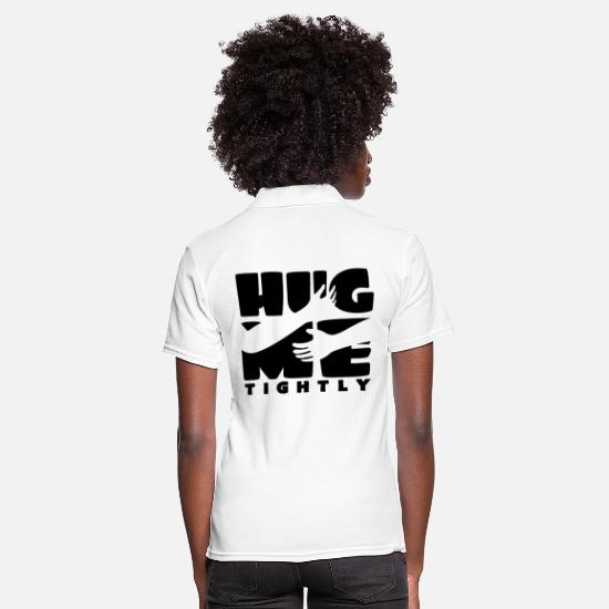 Love Polo Shirts - hug - Women's Polo Shirt white