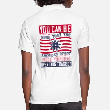 Afro Patriot Day American Spirit will prevail - Frauen Poloshirt