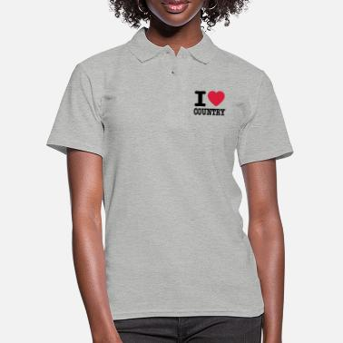 Country i love country / i heart country - Poloshirt dame
