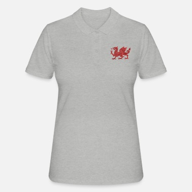 Red Welsh Red Dragon - Women's Polo Shirt