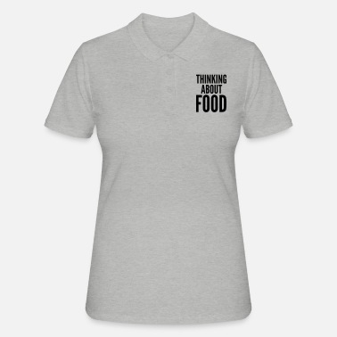 Thinking About Food - Women's Polo Shirt
