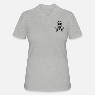 Eros & Thanatos Skull and Crossbones by Cheerful - Women's Polo Shirt